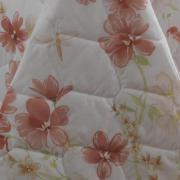 Kit: 1 Cobre-leito King + 2 Porta-travesseiros King Percal 180 fios 100% Algodão - Yolanda Coral - Dui Design
